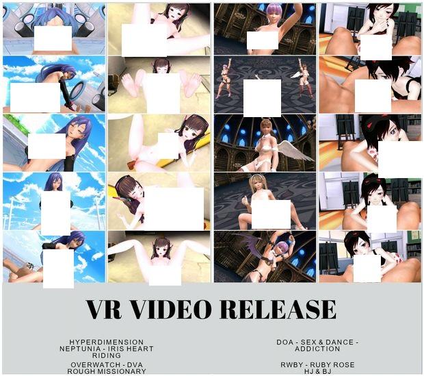 [R-18VR]超次元戰記戰機少女 海王星,Overwatch Dva,性愛舞蹈生死格鬥,RWBY Ruby 的H影片