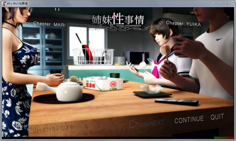 梅麻呂新作:姐姐和妹妹的性事情!遊戲+影片(4.04GB RAR)